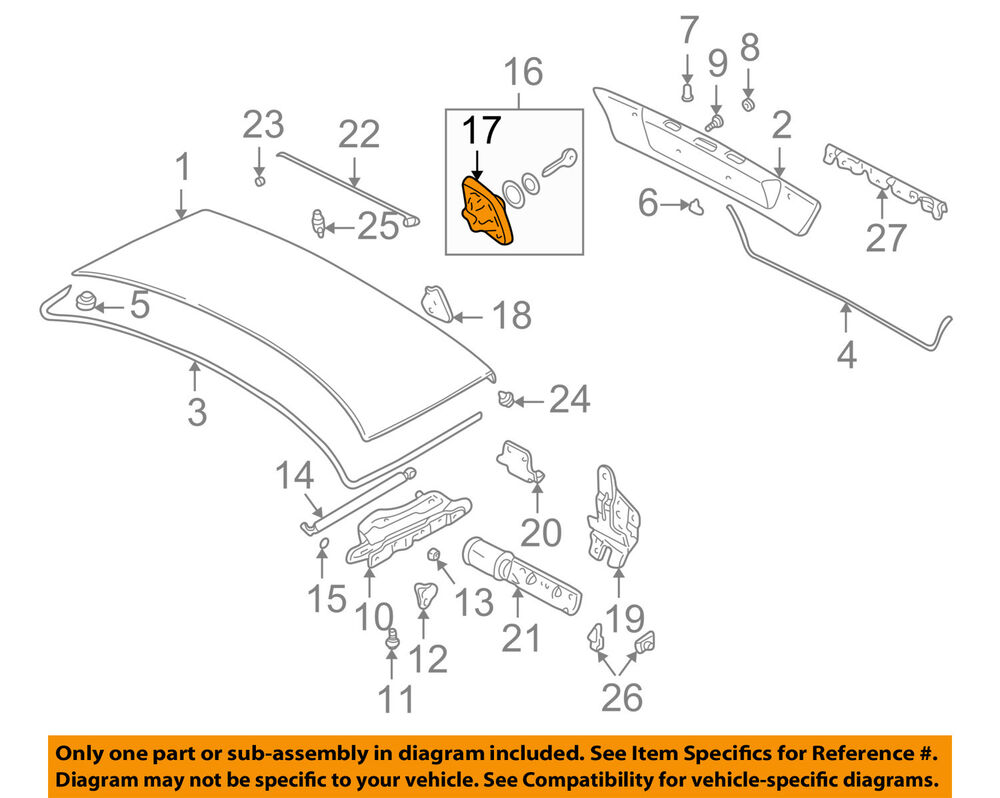 hight resolution of details about bmw oem 95 01 750il trunk lid catch 51248166688