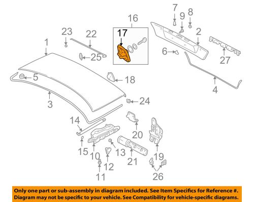 small resolution of details about bmw oem 95 01 750il trunk lid catch 51248166688