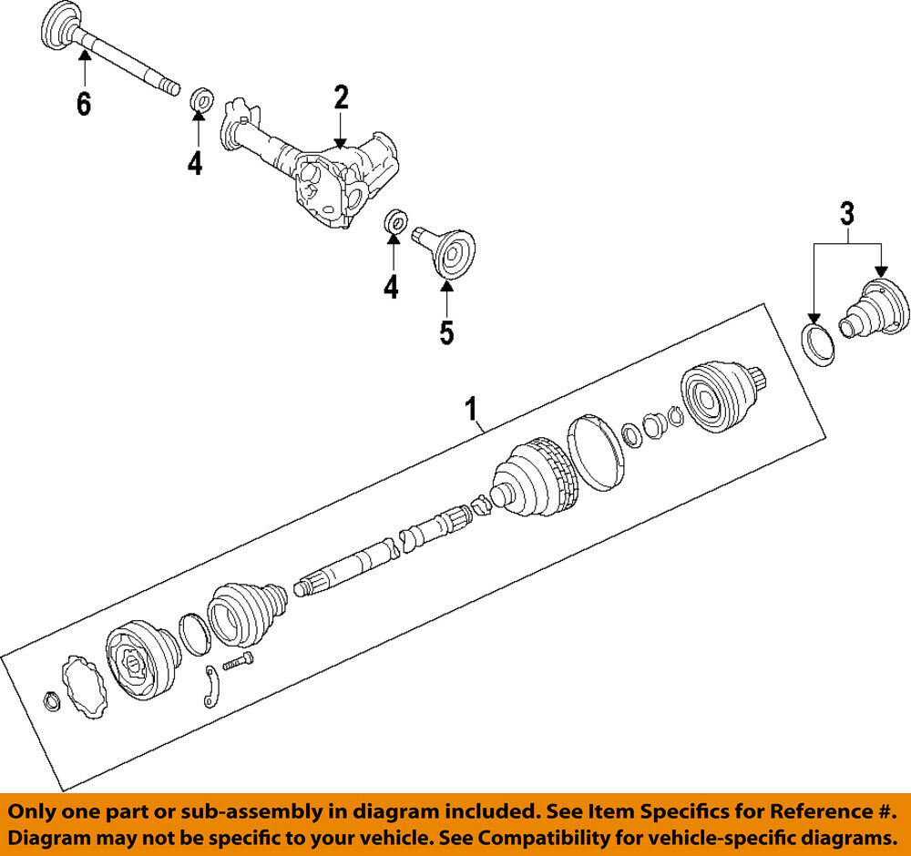 medium resolution of details about porsche oem 11 14 cayenne front drive cv shaft axle assy 95834903800