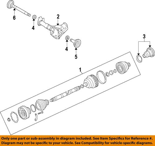 small resolution of details about porsche oem 11 14 cayenne front drive cv shaft axle assy 95834903800