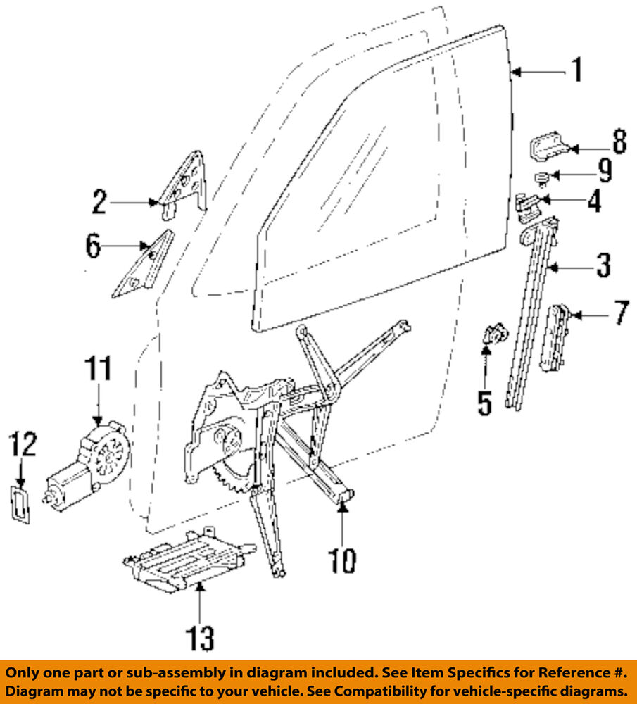hight resolution of details about bmw oem 95 99 m3 door guide left 51321977683