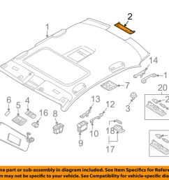 details about bmw oem 06 10 m5 interior roof rear lamp cover 51447897527 [ 1000 x 798 Pixel ]
