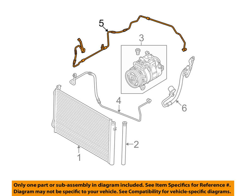 hight resolution of details about bmw oem 13 15 x1 3 0l a c ac condenser compressor liquid line tube 64509221757