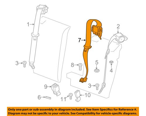 small resolution of details about bmw oem 11 16 x3 rear seat belt center middle assy 72117255923