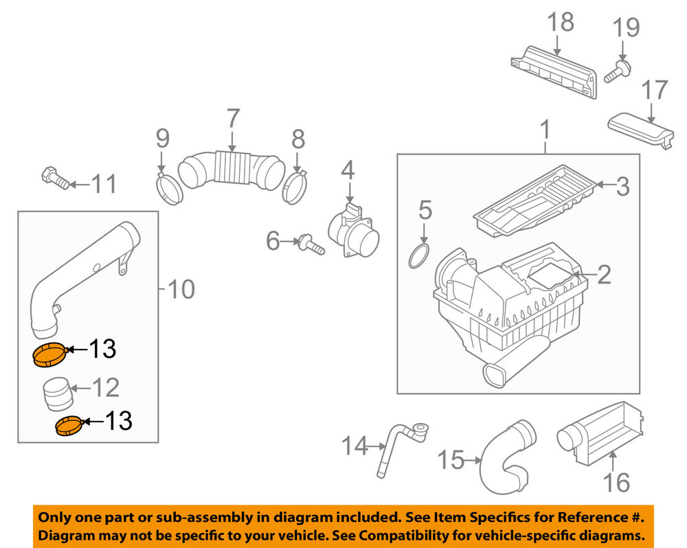 medium resolution of details about vw volkswagen oem 09 16 jetta air cleaner intake hose tube duct clamp n90656201