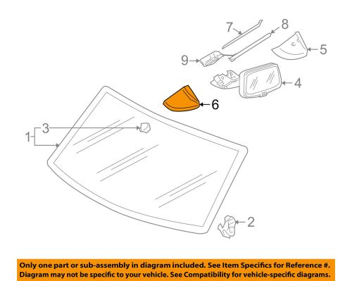 small resolution of details about vw volkswagen oem 04 05 touareg windshield side cover left 7l08585475j6