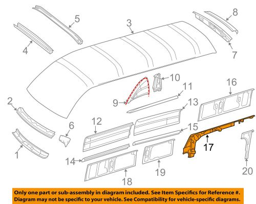 small resolution of mercedes oem 10 17 sprinter 2500 roof front reinforcement right 2012 sprinter engine diagram