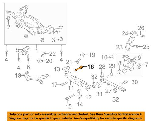 small resolution of details about ford oem rear suspension strut mount bolt w708740s439