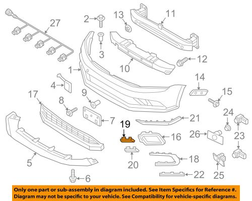 small resolution of details about vw volkswagen oem front bumper grille grill upper molding trim left 5c68535099b9