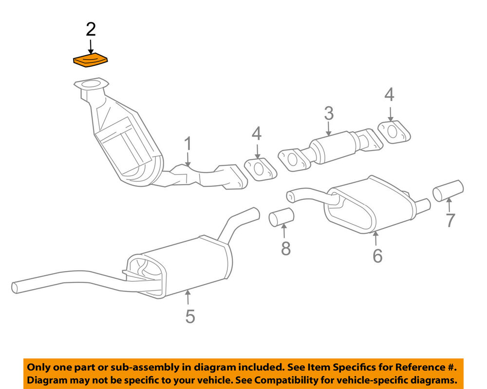 hight resolution of details about ford oem 02 03 focus 2 0l l4 exhaust catalytic converter gasket 2m5z9450ba