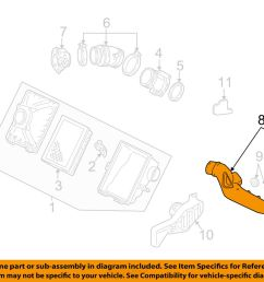 details about ford oem air cleaner intake inlet duct hose tube 4f1z9a624aa [ 1000 x 798 Pixel ]