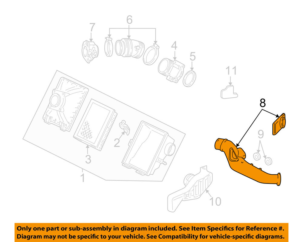 hight resolution of details about ford oem air cleaner intake inlet duct hose tube 4f1z9a624aa