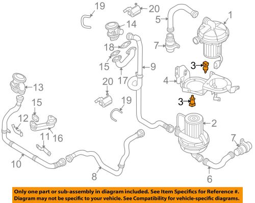 small resolution of details about vw volkswagen oem 04 06 phaeton 6 0l w12 emission a i r pump buffer 3d0133567b