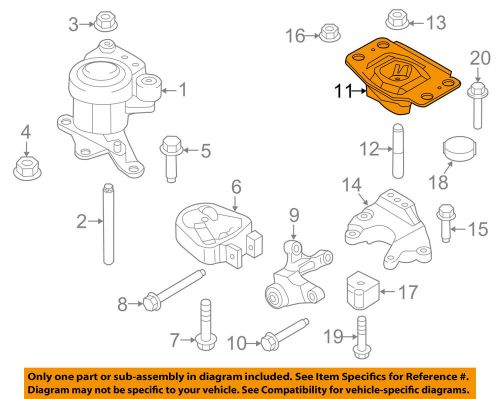 small resolution of details about ford oem 13 16 fusion engine motor transmission upper mount bg9z6068a