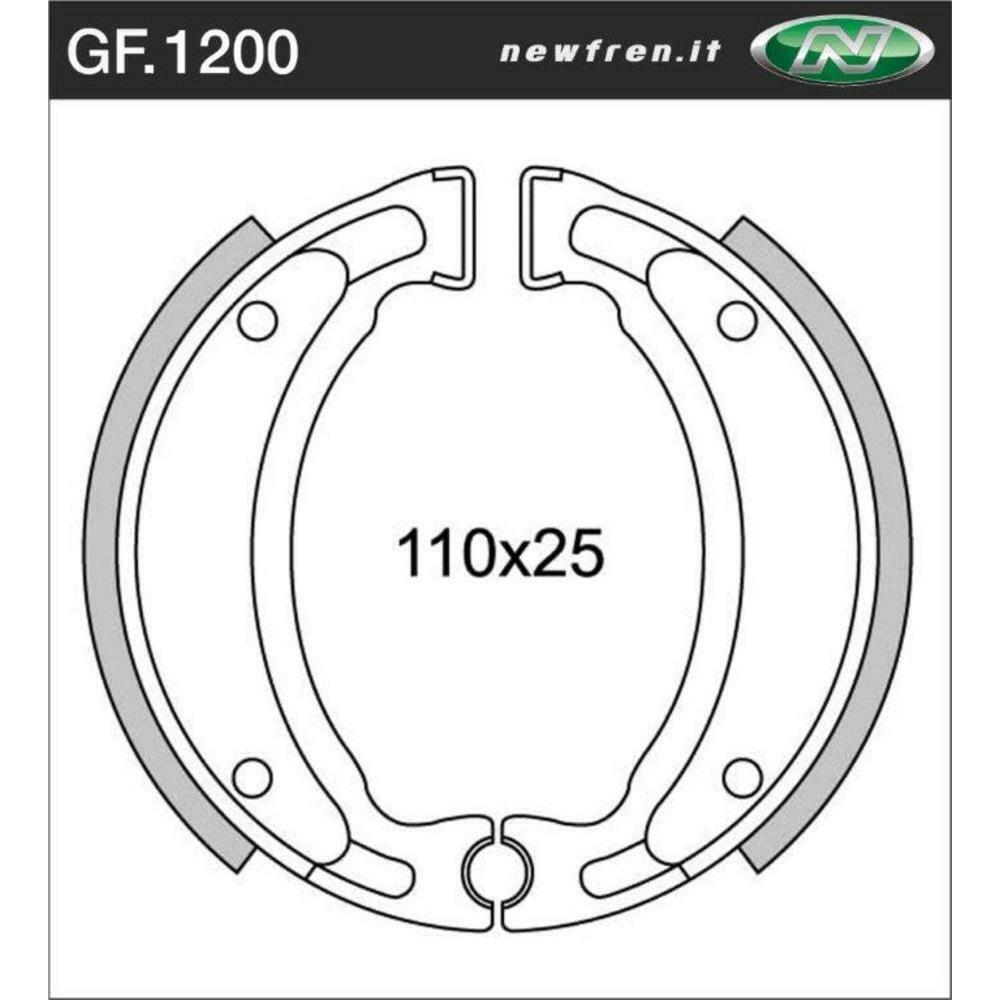 Rear Brake Shoes Fit YAMAHA YFS200 BLASTER 1999 2000 2001