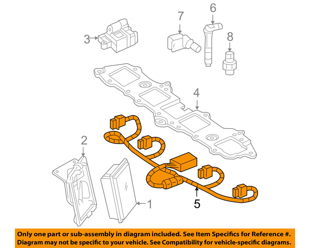 hight resolution of details about gm oem ignition spark plug wire set 12579355