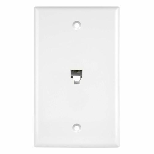small resolution of details about new single rj11 rj12 6p6c phone jack modular wall plate white 6631