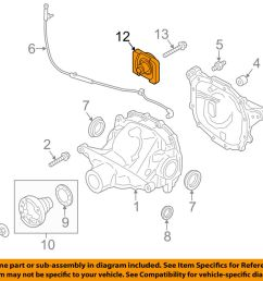 details about ford oem 15 18 mustang axle differential rear damper fr3z4a263a [ 1000 x 798 Pixel ]
