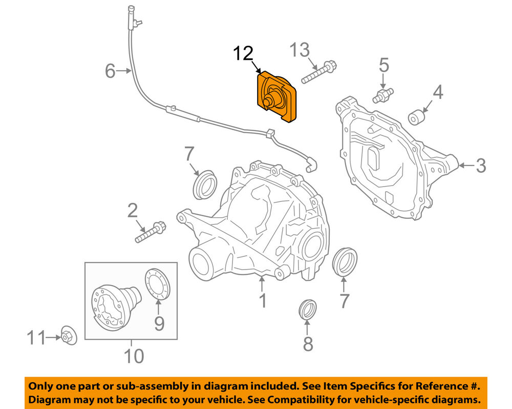hight resolution of details about ford oem 15 18 mustang axle differential rear damper fr3z4a263a