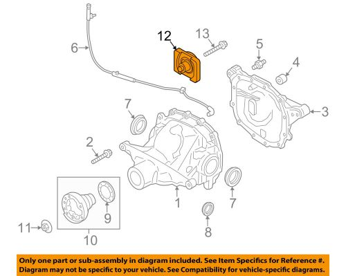 small resolution of details about ford oem 15 18 mustang axle differential rear damper fr3z4a263a
