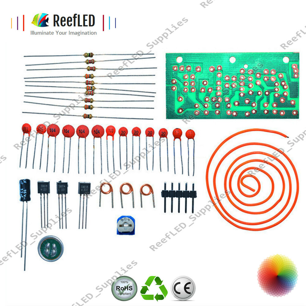 hight resolution of details about 80mhz 103mhz fm radio high frequency wireless microphone diy kit module antenna