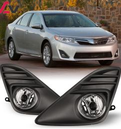 details about for toyota camry 12 14 clear lens pair oe fog light lamp wiring switch kit dot [ 1000 x 1000 Pixel ]