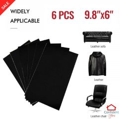 Leather Chair Patch Upholstered Dining Repair Kit Self Adhesive Black Sofa Couch Car Seats Details About Patching 6 Pcs