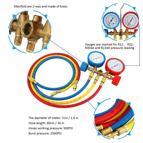 small resolution of details about a c air conditioning refrigerant manifold gauge set repair tools r22 r134 r404a