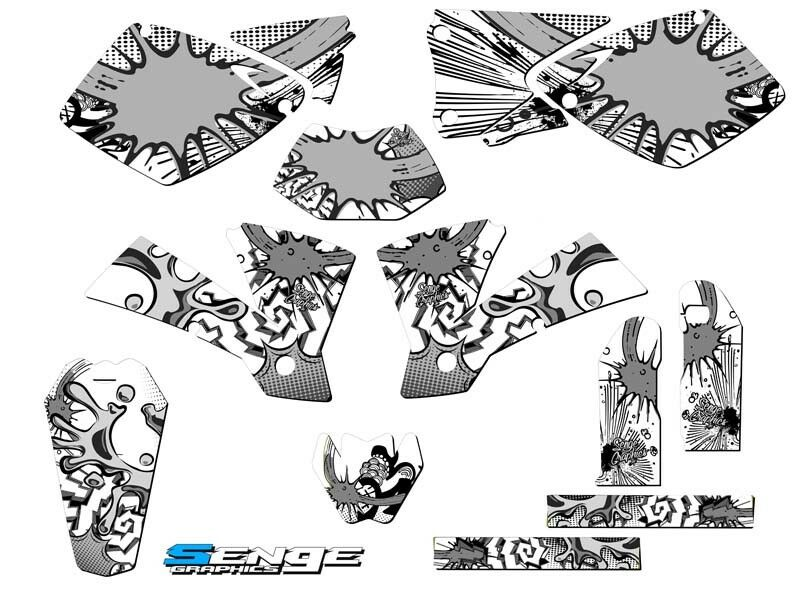 2003 FITS KTM EXC 200 250 300 450 525 GRAPHICS KIT DECO