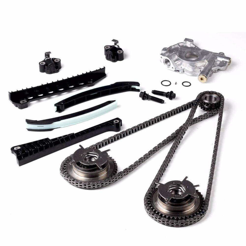 Timing Chain HP Oil Pump Kit+Cam Phasers Fit 2004-2008