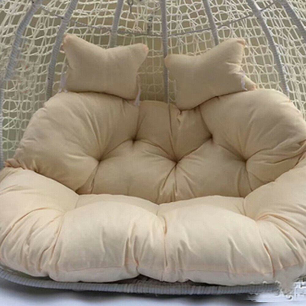 Double Egg Chair Soft Double Seat W Pillow Hanging Swing Egg Chair Cushion Mat Durable Hotel Bmg Ebay