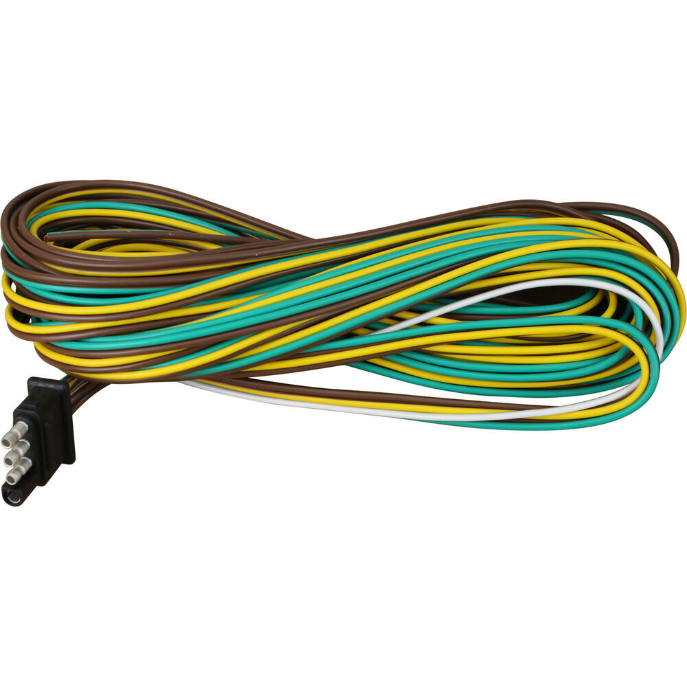 hight resolution of details about 25 4 way trailer wiring connection kit flat wire extension harness boat car rv
