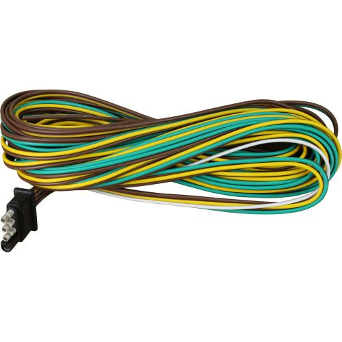 small resolution of details about 25 4 way trailer wiring connection kit flat wire extension harness boat car rv