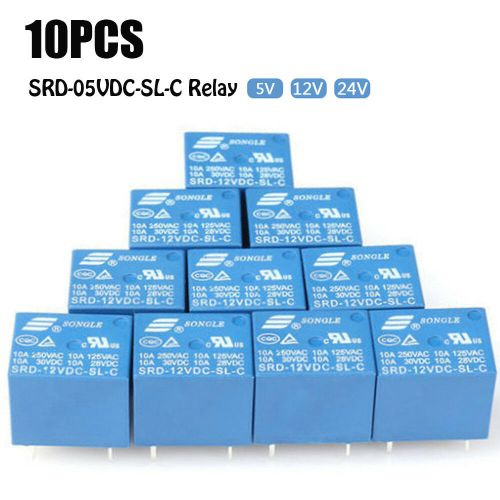 small resolution of details about 10 pcs 5v 24v 10a srd 12vdc sl c type mini 5 pins relay dc hooot bin