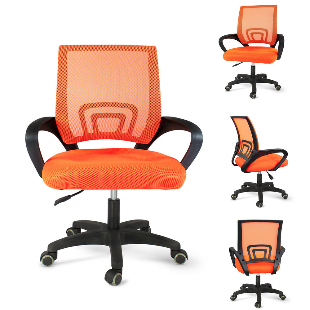 Orange Office Chairs Office Mesh Chair Computer Desk Fabric Adjustable Ergonomic Gaming Swivel Orange 609301764309 Ebay