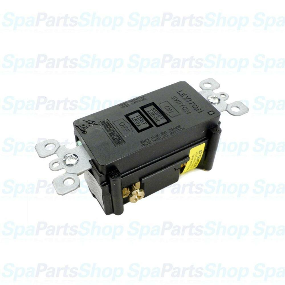 hight resolution of details about spa hot tub heater control gfci breaker leviton 120v 20a spst 6590 b 8590 xe