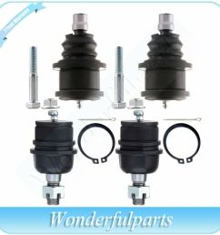 details about suspension 4x front lower upper ball joints for 1995 2001 ford explorer 2wd 4wd [ 1000 x 1000 Pixel ]