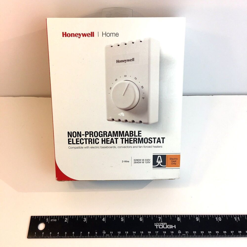 hight resolution of details about honeywell ct410a manual thermostat single pole 2 wires electric heating white