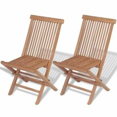 Teak Folding Chair Oversized Patio Chairs Vidaxl Set Of 2 Wood Outdoor Seating Details About Garden Seat
