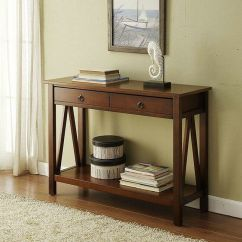 Sofa Console Tables Wood Used Furniture Table Entryway Foyer Accent Hall Entry Antique Details About Style Drawers