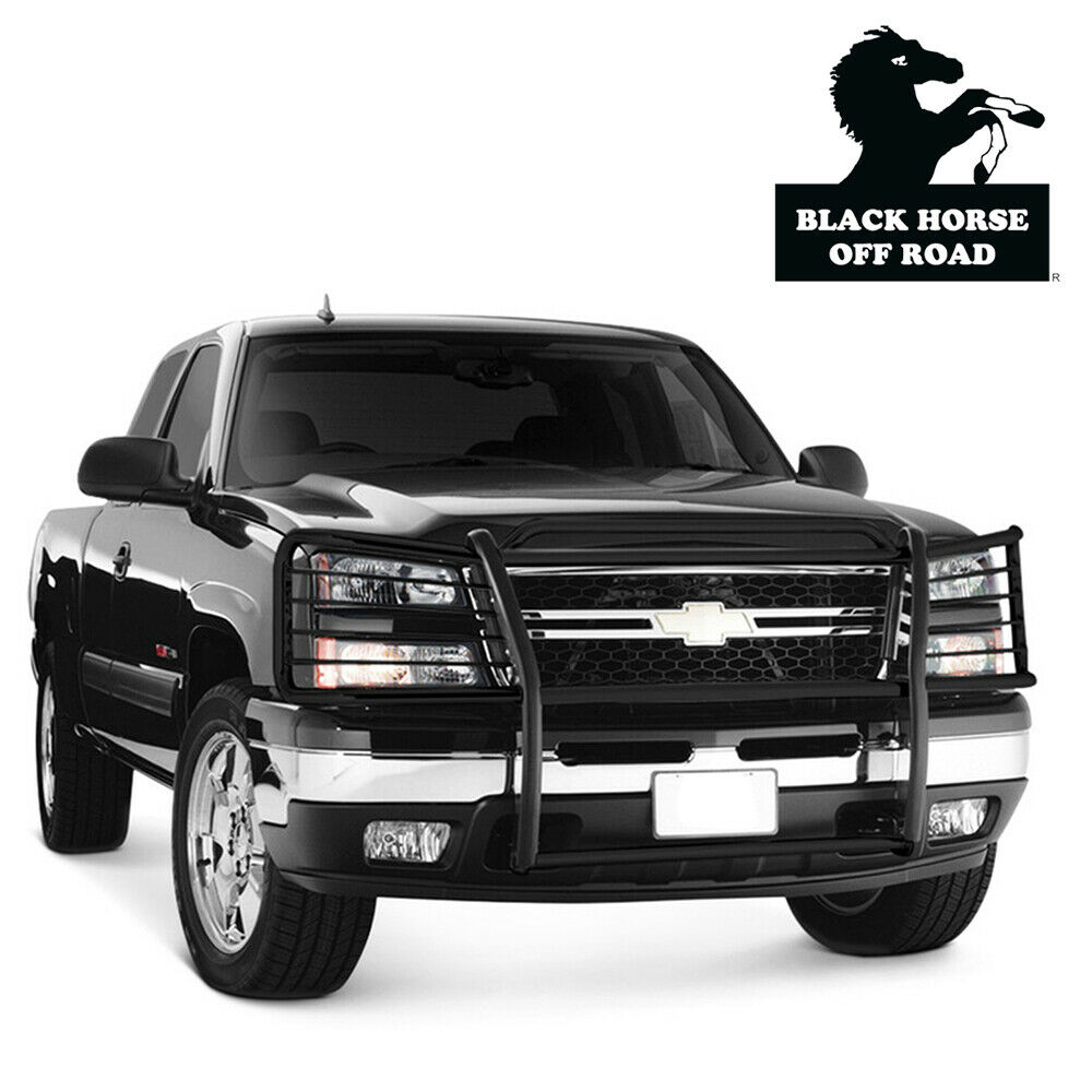hight resolution of details about black horse fit 03 07 chevy silverado 1500 2500 blac grill bumper guard push bar