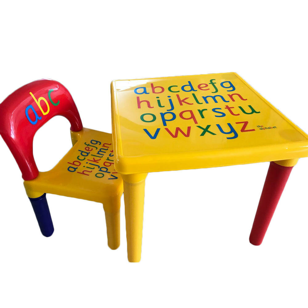 Plastic Kids Chairs Plastic Kids Table And Chairs Play Set Toddler Toy Activity Furniture In Outdoor Ebay