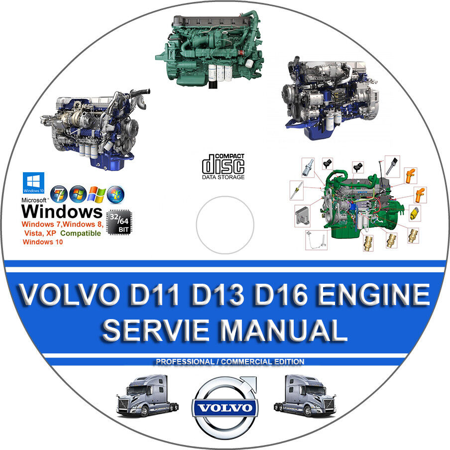 medium resolution of details about volvo truck d11 d13 d16 engine service repair manual operators maintenance man