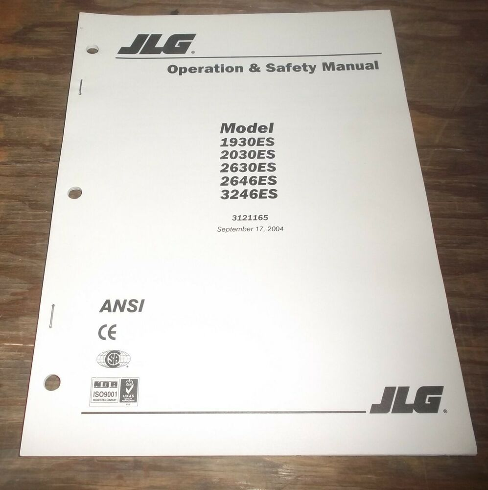 medium resolution of details about jlg 2646es 3246es scissor lift aerial platform boom owner operator user manual