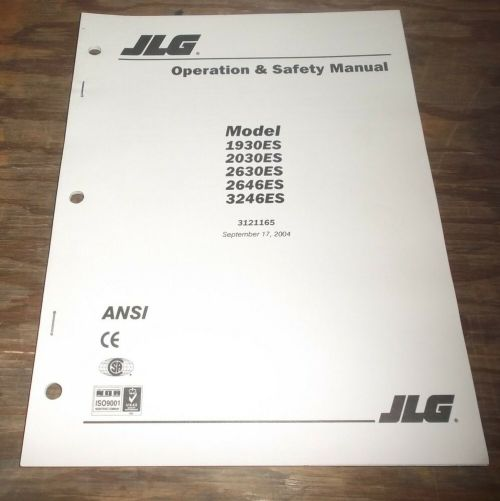 small resolution of details about jlg 2646es 3246es scissor lift aerial platform boom owner operator user manual