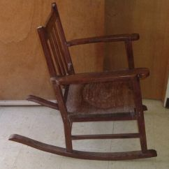 Antique Wooden Rocking Chairs Scooby Doo Chair Ohia Wood Hawaiian Furniture | Ebay