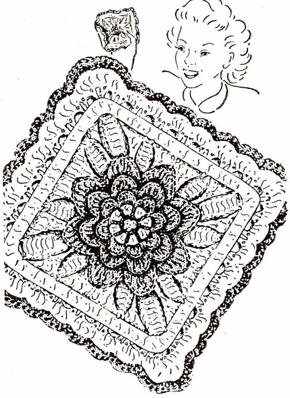 Vintage Crochet PATTERN to make Irish Rose Pot Pan Holder