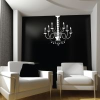 Large Chandelier Light, Lamp Wall Stickers / Wall Decal