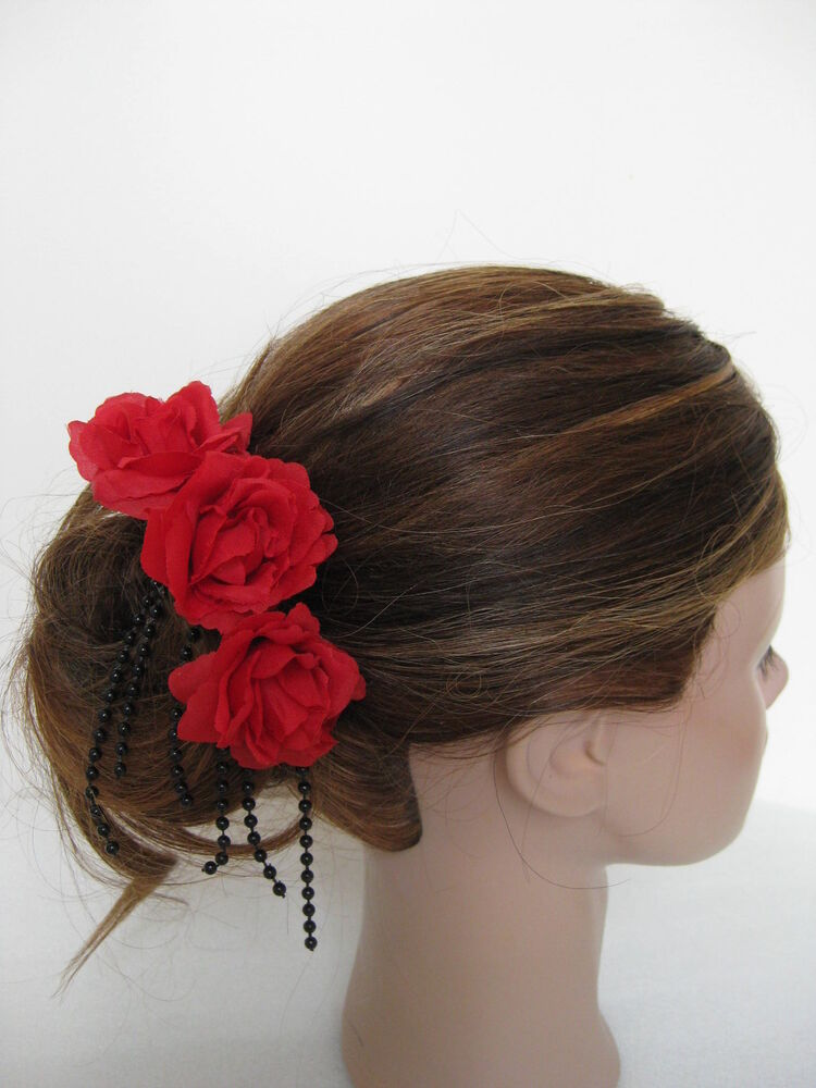 3pc Wedding Cascade Mini Rose Flower Hair Pins Clips EBay