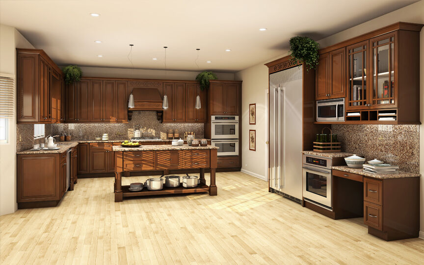 All Solid Wood Kitchen Cabinets 10x10 FULLY ASSEMBLED